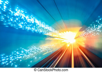 tunnel motion fast background - motion fast in the...