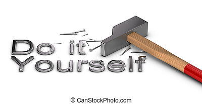 Do it Yourself - Word Do it yourself written with metal...