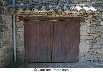 brown door - old brown door