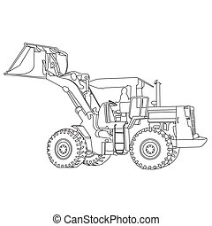 Back Hoe outlineVector - action Back Hoe outlineVector...
