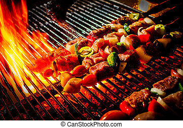 beef bbq - delicious beef bbq on grill