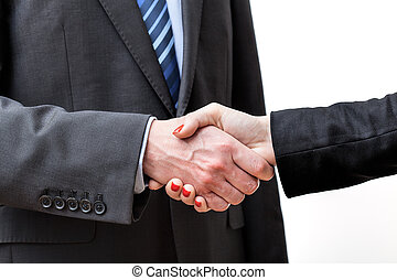 Making a deal finished by a business handshake