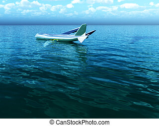 Plane In Water - Image inspired by the Hudson River plane...