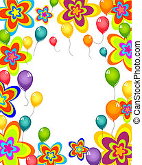 Celebration card - Vector illustration of colorful balloons...