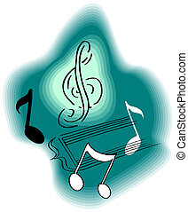 Musical notes staff background