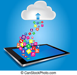 Cloud Computing Concept - Cloud computing and mobility...