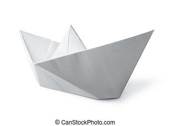 白色, 紙, 小船