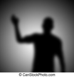 Shadow Figure - A mysterious and blurry waving shadow...