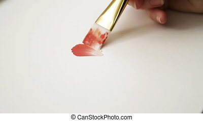 painting flower petals close up