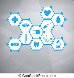 Medical background Vector Illustration, eps 10