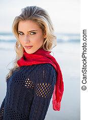 Gorgeous sensual blonde posing