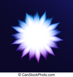 Vector Abstract Background With Glowing Flower