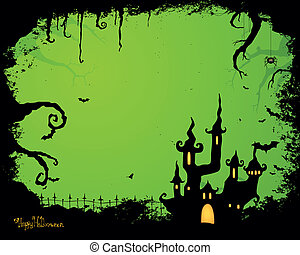 Halloween bat night horror vector moon painting backgrounds ...