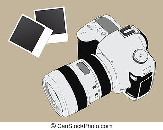 Camera film picture vector