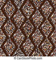 Mottled geometric ornament. Seamless pattern. EPS 10 vector...
