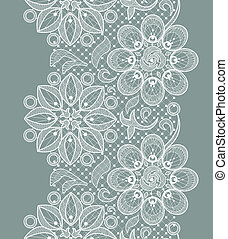 Lace Seamless Pattern - Vector Old Lace Seamless Pattern,...