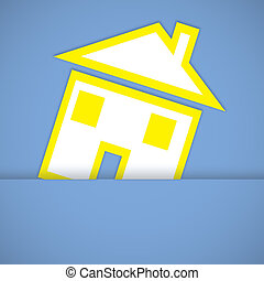 home icon on blue background