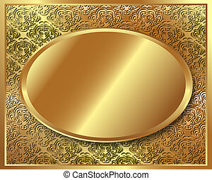 Delicate gold frame with pattern