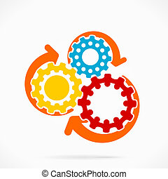 Gear - Abstract synchronized gear vector illustration