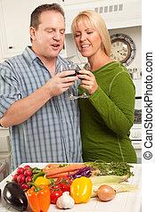 Toasting Couple Enjoying Wine