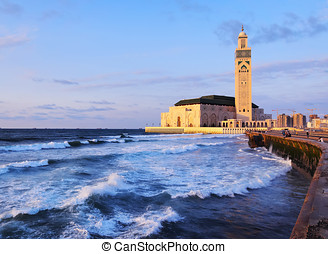 Hassan II Mosque in Casablanca - Hassan II Mosque during the...
