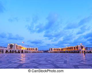Hassan II Mosque in Casablanca - Night view of Hassan II...