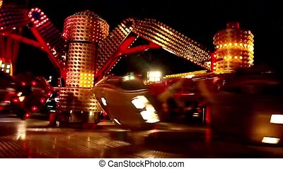 Fairway festival - Carousels in amusement park at night