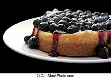 blueberry cheesecake - cheesecake topped with fresh...