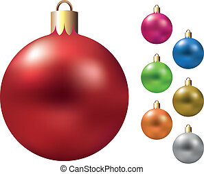 christmas balls decorations vector