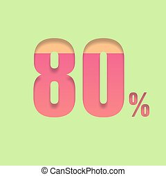 Eighty percent symbol
