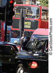 london trafic - trafic in london city