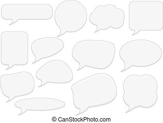Text bubbles set - Set of 13 text bubles for any use
