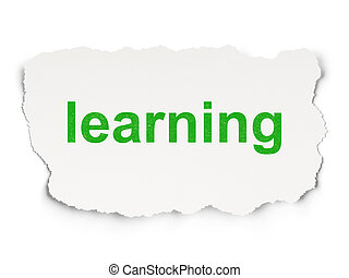 Education concept: Learning on Paper background