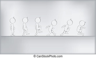 Abstract Humans in Movement Vector - Abstract Humans in...