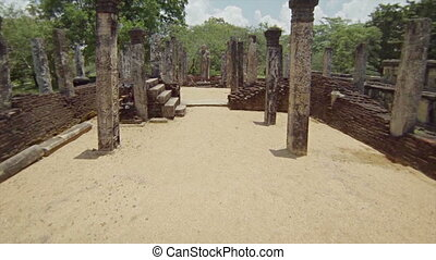 ruins of ancient temples. Sri Lanka
