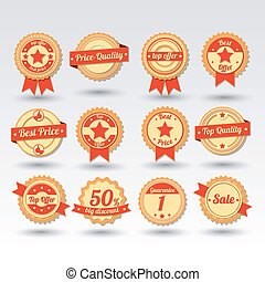 Collection of Sale Emblems in Vector