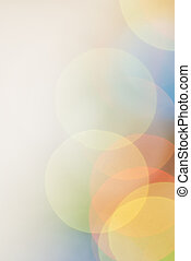 Color lights blur background with natural bokeh