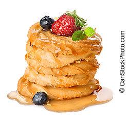 Shortcake - Pyramid of shortcake isolated on a white...