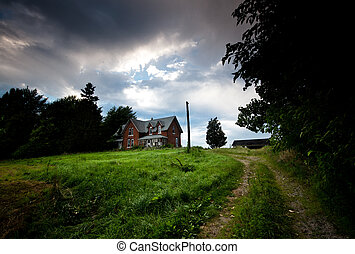 Abandoned Farmhouse - The exterior of an abandoned farmhouse...