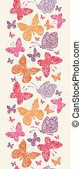 Floral butterflies vertical seamless pattern background