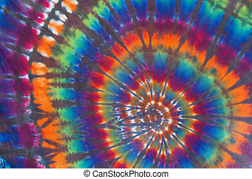 Rainbow Tie Dye Pattern - Rainbow colored tie dye pattern on...