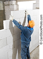 Builder mason worker bricklayer - construction worker...