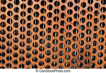 Rusted Orange Grille - Detailed rusted orange grille