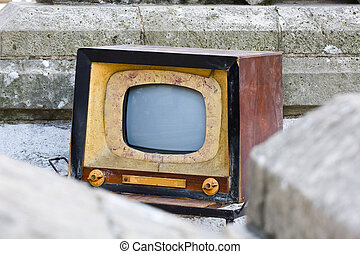 Old TV, retro style colors