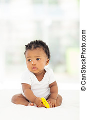 african American baby girl - cute african american baby girl...