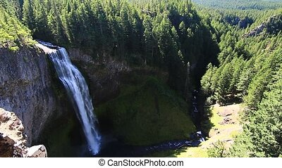 Salt Creek Falls located Located west of Willamette Pass in...