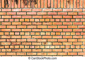 Orange brown brick wall seamless surface background texture