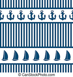 Abstract sea seamless pattern background. Vector...