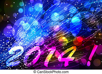 Happy new year 2014 background - Happy new year 2014 card or...