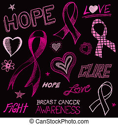 Breast Cancer Awareness Sketch - A handdrawn doodle art...